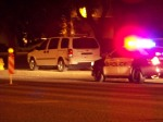 Tempe Police arrive on scene behind Redflex photo van