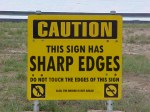 SHARP EDGES: Is this sign more useful than a photo radar